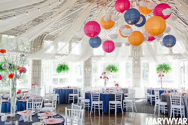 Detroit Tigers Wedding, Orange and Blue wedding