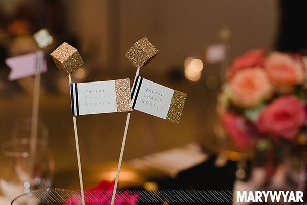 Champagne Flute Place Card