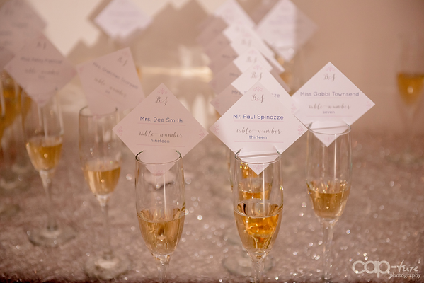 Champagne Escort Cards, Champagne Flutes, Champagne Flute Wedding
