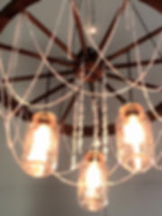 Wagon Wheel Chandelier Mager Designs