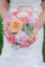 Succulent peony ranunculus dahlia bouquet