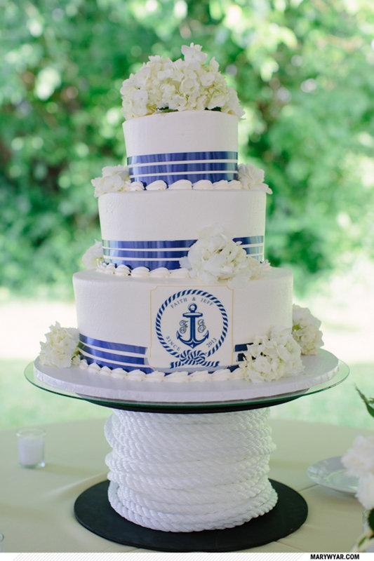 nautical weddng cake