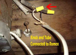 knob and tube romes open splice from web