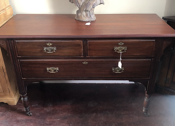 Vintage wooden Low chest drawers