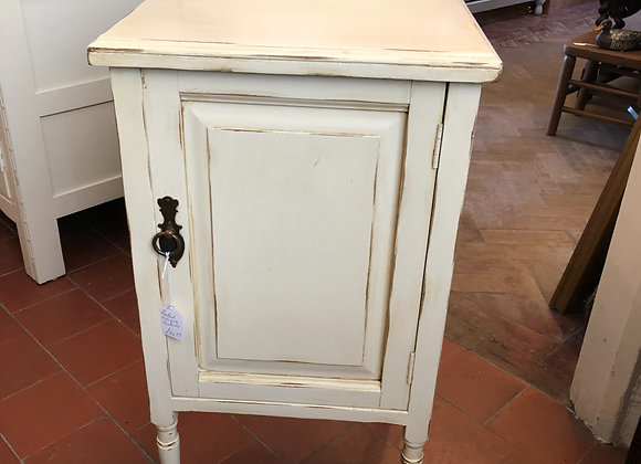 Painted Antique Tall Bedside Cabinet