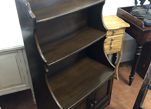 Vintage Ercol waterfall style bookcase