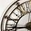 Thumbnail: Large Black and Gold Iron Skeleton Wall Clock