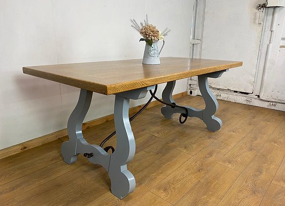Large French Vintage Farmhouse Table