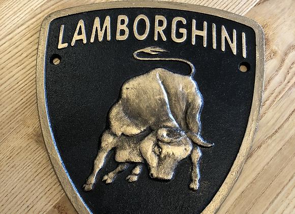 Lamborghini Plaque Cast Iron Sign