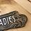 Thumbnail: Art Nouveau Style Plaque Cast Iron Ladies Sign