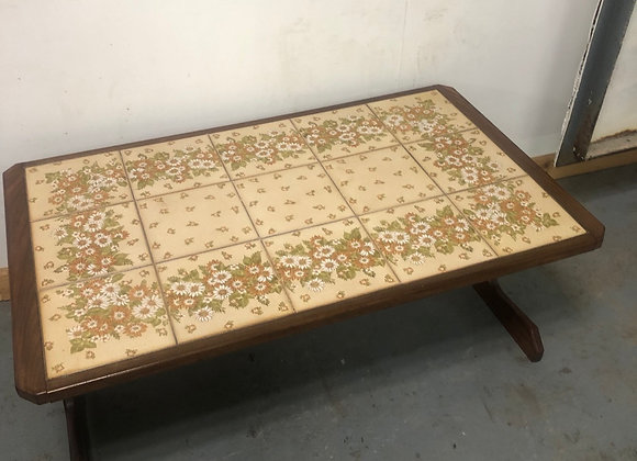 Retro Teak Tiled top Large coffee table