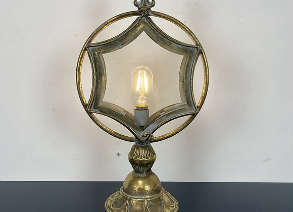 Gold star shaped battery table lamp