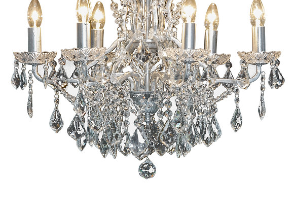 Beautiful Crystal 6 Branch Shallow Chandelier