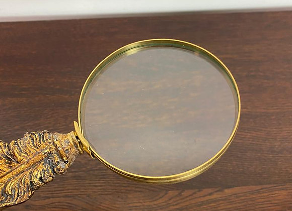 Gold Feather Effect, Handled Magnifying Glass