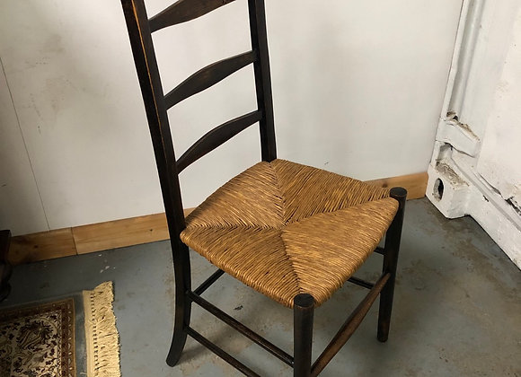 Arts & Crafts Rush Seat Chair Circa 1880