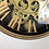 Thumbnail: Black and Gold small Moving Gears Wall Clock