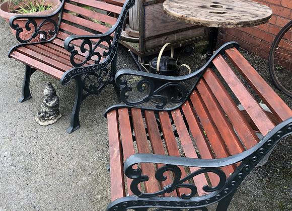 Pair of Cast Iron Garden Benches