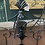 Thumbnail: Black Iron Fire Screen 3 Panel Fire Guard Surround Beautiful Ornate Vint