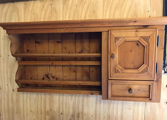 Pine Wall Hanging Cupboard/Plate Rack