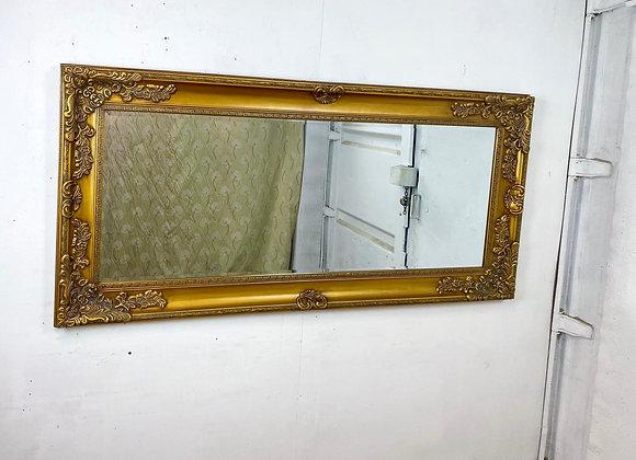 Very Large Gilt Framed Bevelled Edge Mirror 188cm
