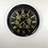 Thumbnail: Large Black and  Gold Moving Gears Wall Clock