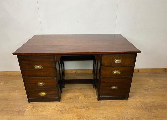 Large Mahogany Partners Desk
