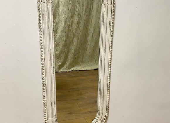 Rustic Chantilly White Tall Narrow Wall Mirror