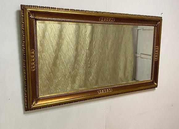 Large Bevelled edge Gold/Brown Rectangular Mirror