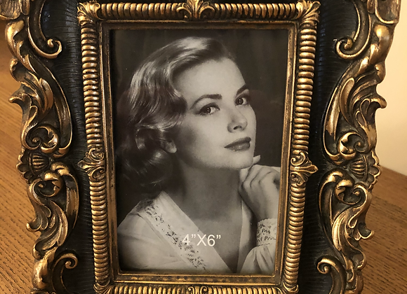 Beautiful Black And Gold Photo Frame