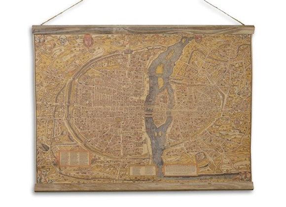 """Linen school map """"La Ville De Paris"""""""
