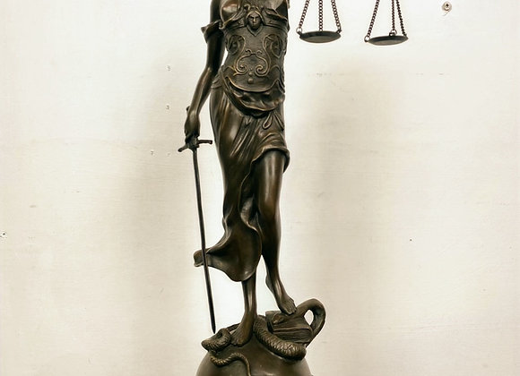 Large Bronze Garanti Sculpture of The Lady Justice