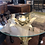 Thumbnail: Gold Pineapple Glass Top Side Table
