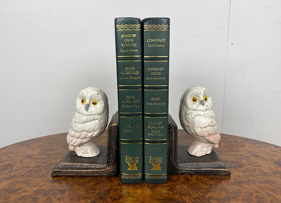Pair Cast Iron Owl Bookends