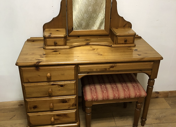 Vintage Ducal Dressing Table with Mirror and Stool