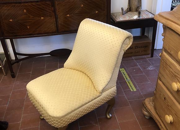 Vintage Gold Bedroom Chair