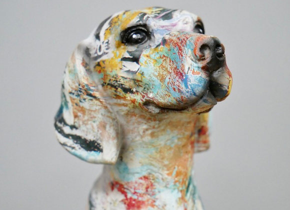 Graffiti Dog Ornament Paint Splash Effect Home Decoration