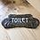 Thumbnail: Art Nouveau Style Plaque Cast Iron Toilet Sign