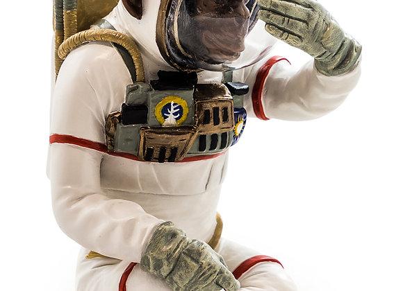 Monkey Astronaut Figurine - See No Evil
