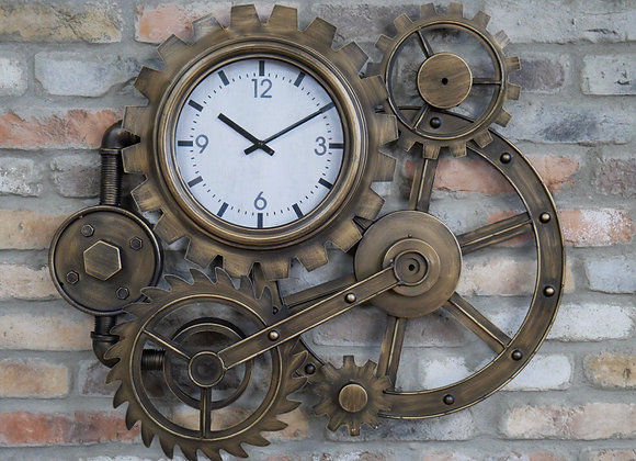 Industrial Metal Cog Clock