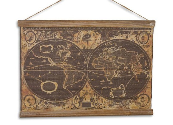 """Linen School Print """"Orbis Geographica"""""""