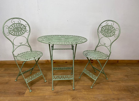 Garden Patio set oval table with 2 chairs