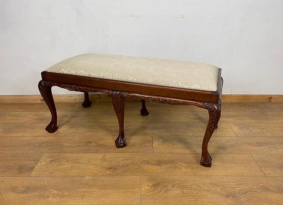Beautiful Ball and Claw Mahogany Vintage bench