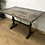 Thumbnail: Rustic Industrial Style Table On Antique Cast Iron Base