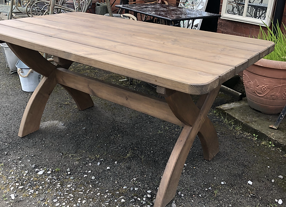 Large Solid Wooden Garden Table