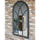 Thumbnail: Large Mirror Arched Dark Grey Finish Window Shape
