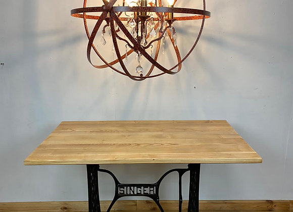 Large Crystal and Iron Sphere Chandelier
