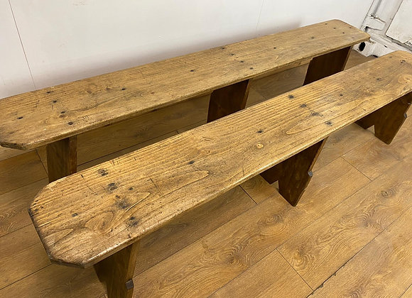 Pair of Rustic French Farmhouse Style Bench's