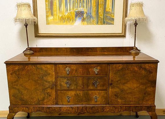 Vintage Burr Walnut Sideboard