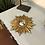 Thumbnail: Small Gold Sun Design Convex Mirror - Frame Size 26cm