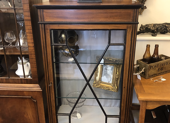 Antique Inlaid Display Cabinet